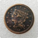 US 1855 Braided Hair Half Cent Copy Coin  For Collection