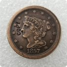 US 1857 Braided Hair Half Cent Copy Coin  For Collection