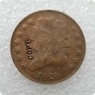 US 1826 Classic Head Half Cent Copy Coin  For Collection