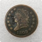 US 1809 Classic Head Large One Cent Copy Coin  For Collection