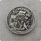 US 1936-D Buffalo Nickel Pirate Skull Hobo Nickle Copy Coin For Collection