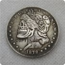 US 1878-CC Morgan Dollar Skull Hobo Nickle Copy Coin For Collection