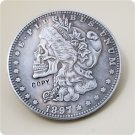 US 1897-P Morgan Dollar Hobo Nickle Copy Coin For Collection