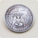 US 1881-CC Morgan Dollar Hobo Nickle Copy Coin For Collection