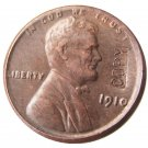 US 1910 Lincoln Head One Cent 100% Copper Copy Coin