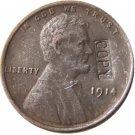 US 1914 Lincoln Head One Cent 100% Copper Copy Coin