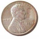 US 1916 Lincoln Head One Cent 100% Copper Copy Coin