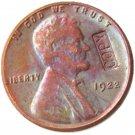 US 1922 Lincoln Head One Cent 100% Copper Copy Coin