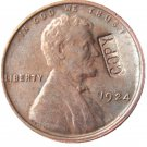 US 1924 Lincoln Head One Cent 100% Copper Copy Coin