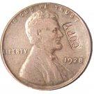US 1928 Lincoln Head One Cent 100% Copper Copy Coin