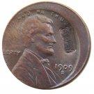 US 1909-S VDB Lincoln One Cent Off-Center Error 100% Copper Copy Coin