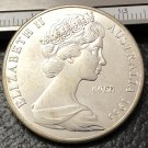 1966 Australia 50 Cents Silver Plated Copy Coin