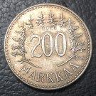1958 Finland 200 Markkaa Silver Plated Copy Coin