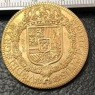 1725 Spain 4 Escudos-Felipe V Cuenca Gold Copy Coin
