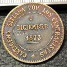 1873 Spain 2 Pesetas-Cantonal Revolution Copy Coin
