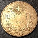 1925 Switzerland 100 Francs Essai Gold Copy Coin
