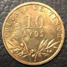 1945 Portuguese Timor 10 Avos Bronze Copy Coin 21mm