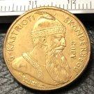 1926 Albania 20 Franga Ari-Zog I Prova Gold Coin Copy