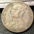 1905 Danish West Indies 40 Cents / 2 Francs-Christian IX Silver Plated Coin Copy
