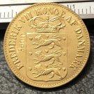 1860 Danish West Indies 1 Cents-Frederik VII Bronze Copy Coin