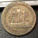 1766 Danish West Indies 24 Skilling-Christian VII Silver Plated Coin Copy