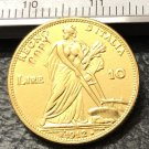 1912 Itlay 10 Lire Gold Copy Coin