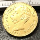 1891 Itlay 20 Lire Gold Copy Coin