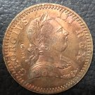 1770 United Kingdom Half Penny - George III Copper Coin
