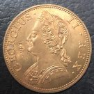 1742 United Kingdom Half Penny - George II Copper Coin