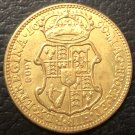 1690 England 1 Guinea - William & Mary .9999 pure Gold Plated Copy Coin
