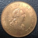 1799 United Kingdom Half Penny - George III Copper Coin 30MM