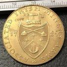 1789 Ireland Associated Irish Miners Half Penny Brozen Metal Copy Coin