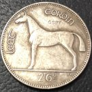 1961 Ireland 1/2 Coroin/ 2 Scilling 6 Pingin Silver Plated Copy Coin