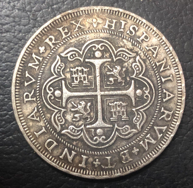 1717 Mexico 8 Reales - Felipe V Silver Plated Copy Coin