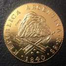 1840 La Rioja 8 Escudos Gold Copy Coin 33mm