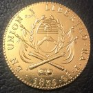 1835 La Rioja 8 Escudos Provincias del rio de la plata Gold Copy Coin 35mm