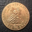 1843 La Rioja 2 Escudos Gold Copy Coin