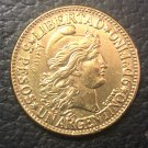 1883 Argentina 5 Pesos/ 1 Argentino Gold Copy Coin 22mm