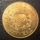 1854 Buenos Aires 1 Real Copper Copy Coin 27mm