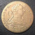 1777 Colombia 8 Escudos - Carlos III Gold Copy Coin