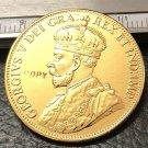 1912 Canada Ten Dollars Gold Copy Coin