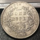 1840 one Rupee-William IV of India-British Silver Plated Copy Coin