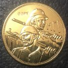 1971(1390) Iraq 5 Dinars Iraqi Army Gold Copy Coin