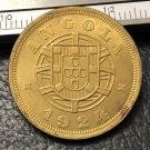 1924 Angola 5 Centavos Brass Coin Copy
