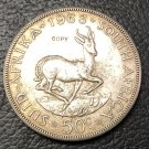 1963 South Africa 50 Cents Bust of Jan Van Riebeeck Silver plated Coin Copy