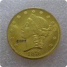1876 $20 (Twenty Dollar) Patterns Gold Copy Coin No Stamp