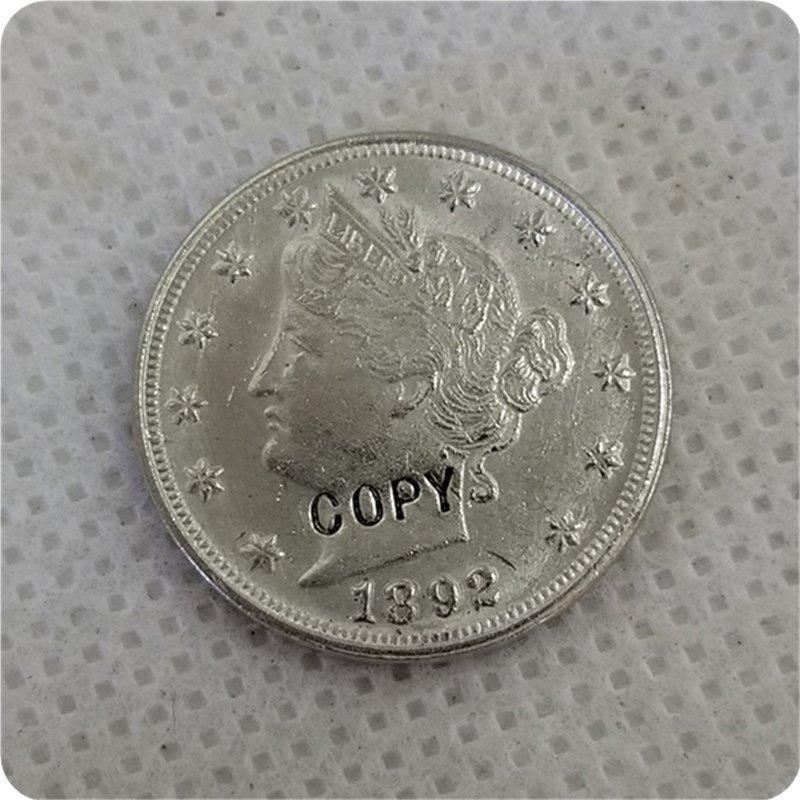 1892 Liberty Head V Nickel Copy Coin No Stamp