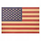 American Flag Poster Retro Kraft Paper Poster Bar Cafe Decorative Wall Sticker 51.5X36cm