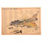 Fighter Design Diagram Kitchen Posters Living Room Retro Poster Wall Stickers 51.5x36cm