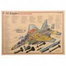 Aircraft Structural Poster Vintage Airplane Design Drawings Kraft Paper Poster 51X36cm